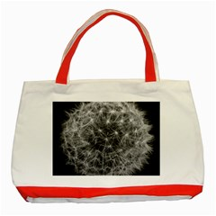 Dandelion Fibonacci Abstract Flower Classic Tote Bag (red)