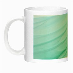Blue Texture Seawall Ink Wall Painting Night Luminous Mugs