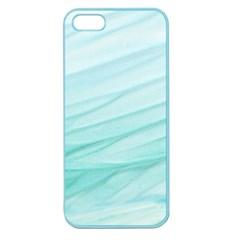 Blue Texture Seawall Ink Wall Painting Apple Seamless Iphone 5 Case (color)