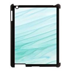 Blue Texture Seawall Ink Wall Painting Apple Ipad 3/4 Case (black)