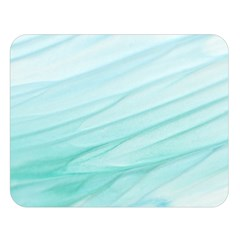 Blue Texture Seawall Ink Wall Painting Double Sided Flano Blanket (large)