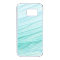 Blue Texture Seawall Ink Wall Painting Samsung Galaxy S7 White Seamless Case
