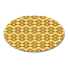Ethnic Traditional Vintage Background Abstract Oval Magnet