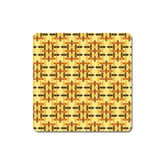 Ethnic Traditional Vintage Background Abstract Square Magnet