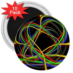 Ball Abstract Pattern Lines 3  Magnets (10 Pack)  by Nexatart
