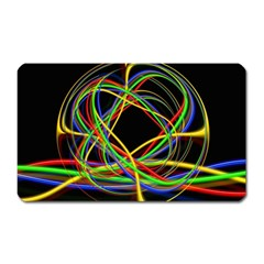 Ball Abstract Pattern Lines Magnet (rectangular)