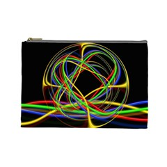 Ball Abstract Pattern Lines Cosmetic Bag (large)
