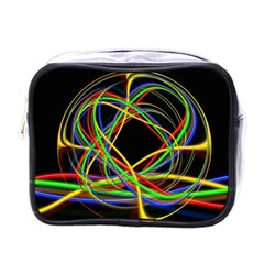 Ball Abstract Pattern Lines Mini Toiletries Bags