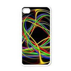 Ball Abstract Pattern Lines Apple Iphone 4 Case (white)