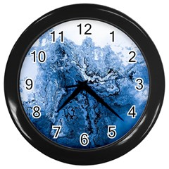 Water Nature Background Abstract Wall Clocks (black) by Nexatart