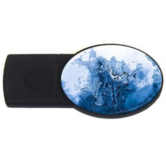 Water Nature Background Abstract Usb Flash Drive Oval (2 Gb) by Nexatart