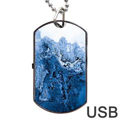 Water Nature Background Abstract Dog Tag Usb Flash (two Sides)