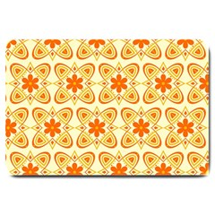 Background Floral Forms Flower Large Doormat