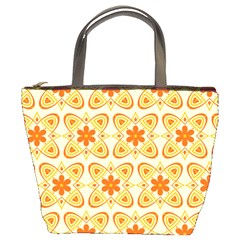 Background Floral Forms Flower Bucket Bags by Nexatart