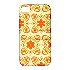 Background Floral Forms Flower Apple Iphone 4/4s Hardshell Case With Stand