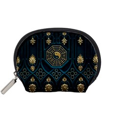 Ying Yang Abstract Asia Asian Background Accessory Pouches (small)