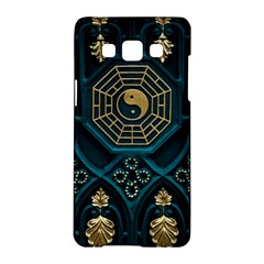 Ying Yang Abstract Asia Asian Background Samsung Galaxy A5 Hardshell Case  by Nexatart