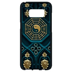 Ying Yang Abstract Asia Asian Background Samsung Galaxy S8 Black Seamless Case