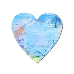 Background Art Abstract Watercolor Heart Magnet by Nexatart
