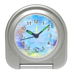Background Art Abstract Watercolor Travel Alarm Clocks