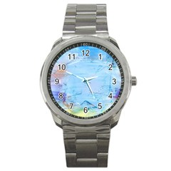 Background Art Abstract Watercolor Sport Metal Watch