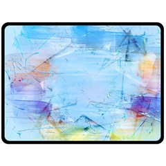 Background Art Abstract Watercolor Double Sided Fleece Blanket (large)