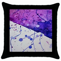 Art Painting Abstract Spots Throw Pillow Case (black)