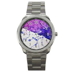 Art Painting Abstract Spots Sport Metal Watch by Nexatart