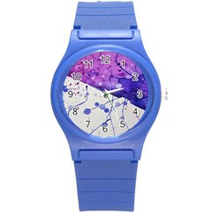 Art Painting Abstract Spots Round Plastic Sport Watch (s) by Nexatart