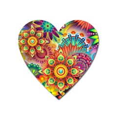 Colorful Abstract Background Colorful Heart Magnet