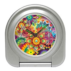 Colorful Abstract Background Colorful Travel Alarm Clocks by Nexatart
