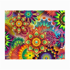 Colorful Abstract Background Colorful Small Glasses Cloth (2 Side)