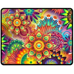 Colorful Abstract Background Colorful Double Sided Fleece Blanket (medium)