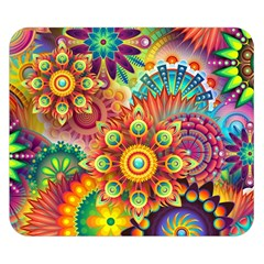 Colorful Abstract Background Colorful Double Sided Flano Blanket (small)