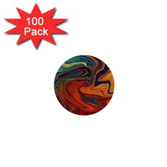Creativity Abstract Art 1  Mini Buttons (100 Pack)