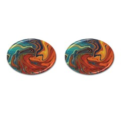 Creativity Abstract Art Cufflinks (oval)