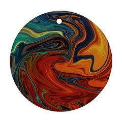 Creativity Abstract Art Round Ornament (two Sides)