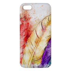 Feathers Bird Animal Art Abstract Iphone 5s/ Se Premium Hardshell Case
