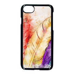 Feathers Bird Animal Art Abstract Apple Iphone 7 Seamless Case (black) by Nexatart