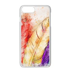 Feathers Bird Animal Art Abstract Apple Iphone 8 Plus Seamless Case (white) by Nexatart