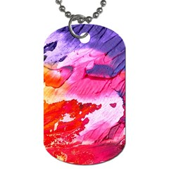 Abstract Art Background Paint Dog Tag (two Sides)