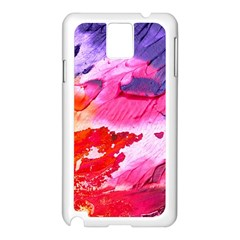 Abstract Art Background Paint Samsung Galaxy Note 3 N9005 Case (white)
