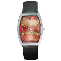 Background Art Abstract Watercolor Barrel Style Metal Watch