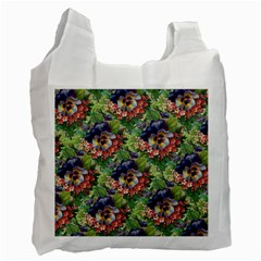 Background Square Flower Vintage Recycle Bag (one Side)