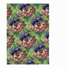 Background Square Flower Vintage Small Garden Flag (two Sides) by Nexatart