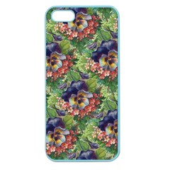 Background Square Flower Vintage Apple Seamless Iphone 5 Case (color) by Nexatart