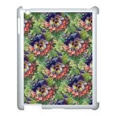 Background Square Flower Vintage Apple Ipad 3/4 Case (white)