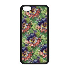 Background Square Flower Vintage Apple Iphone 5c Seamless Case (black)