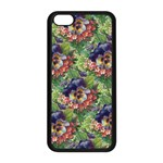 Background Square Flower Vintage Apple iPhone 5C Seamless Case (Black) Front
