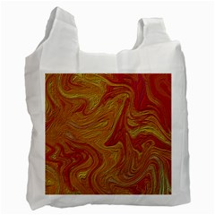 Texture Pattern Abstract Art Recycle Bag (two Side)